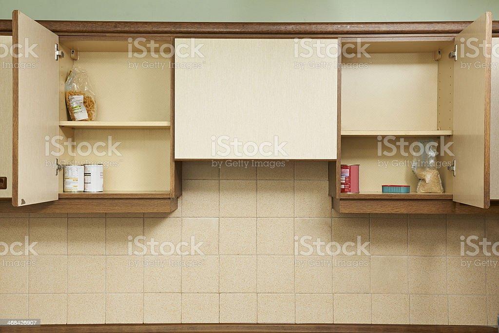 Empty Kitchen Cupboards stock photo