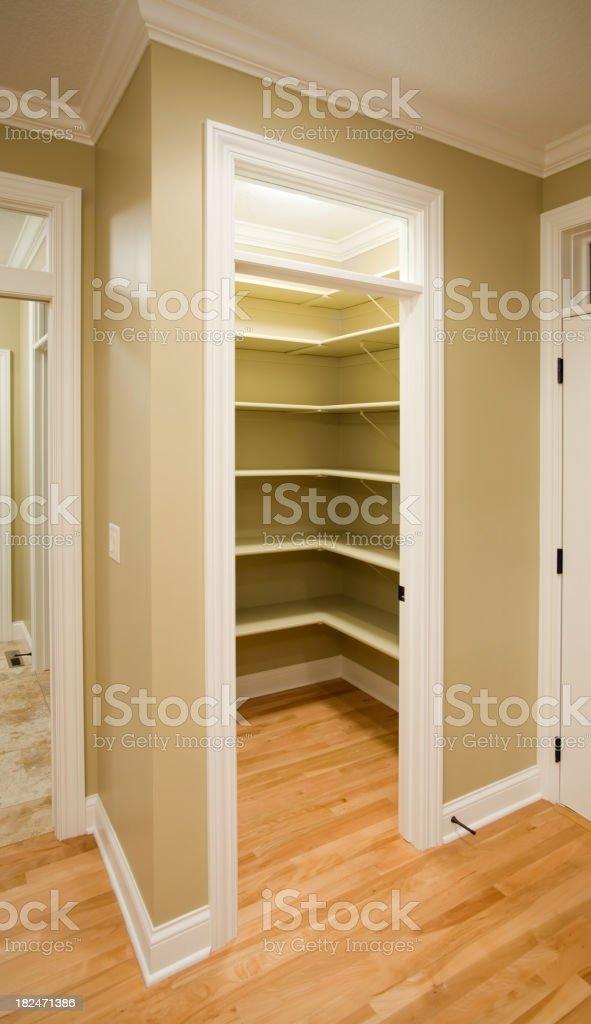 Empty Kitchen Pantry royalty-free stock photo