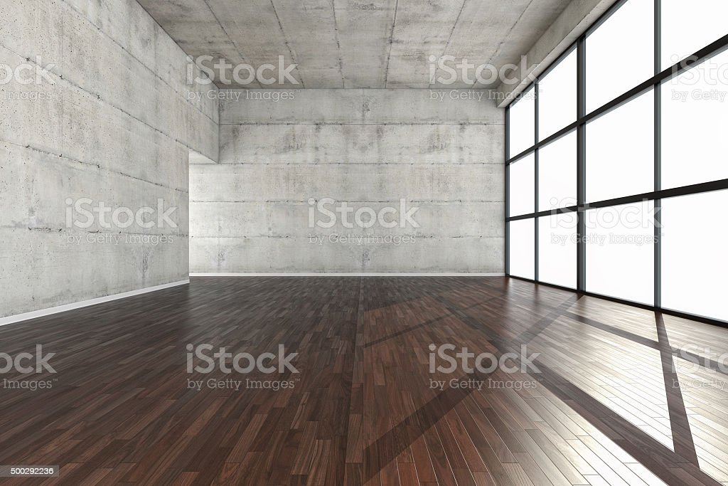 Empty large urban space stock photo