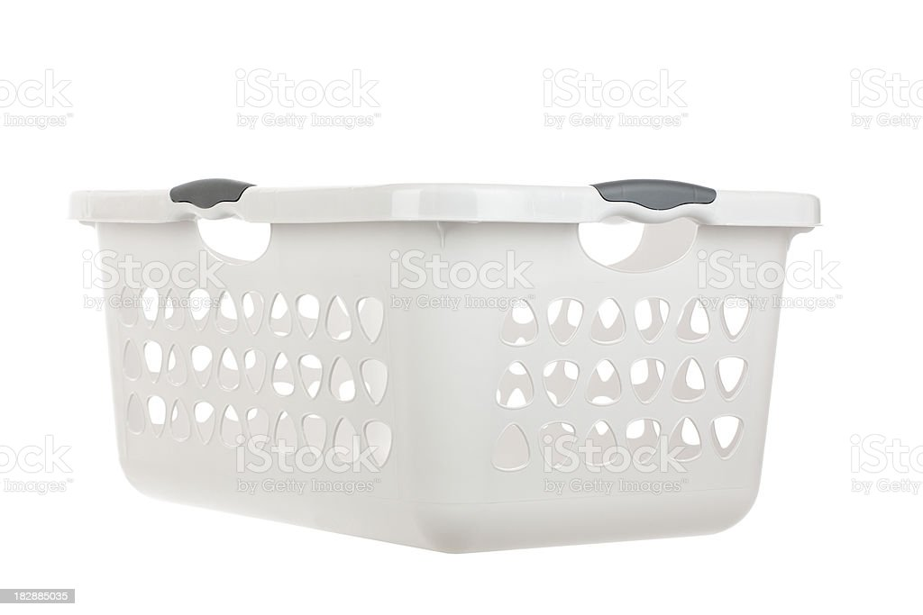 Empty Laundry Basket stock photo