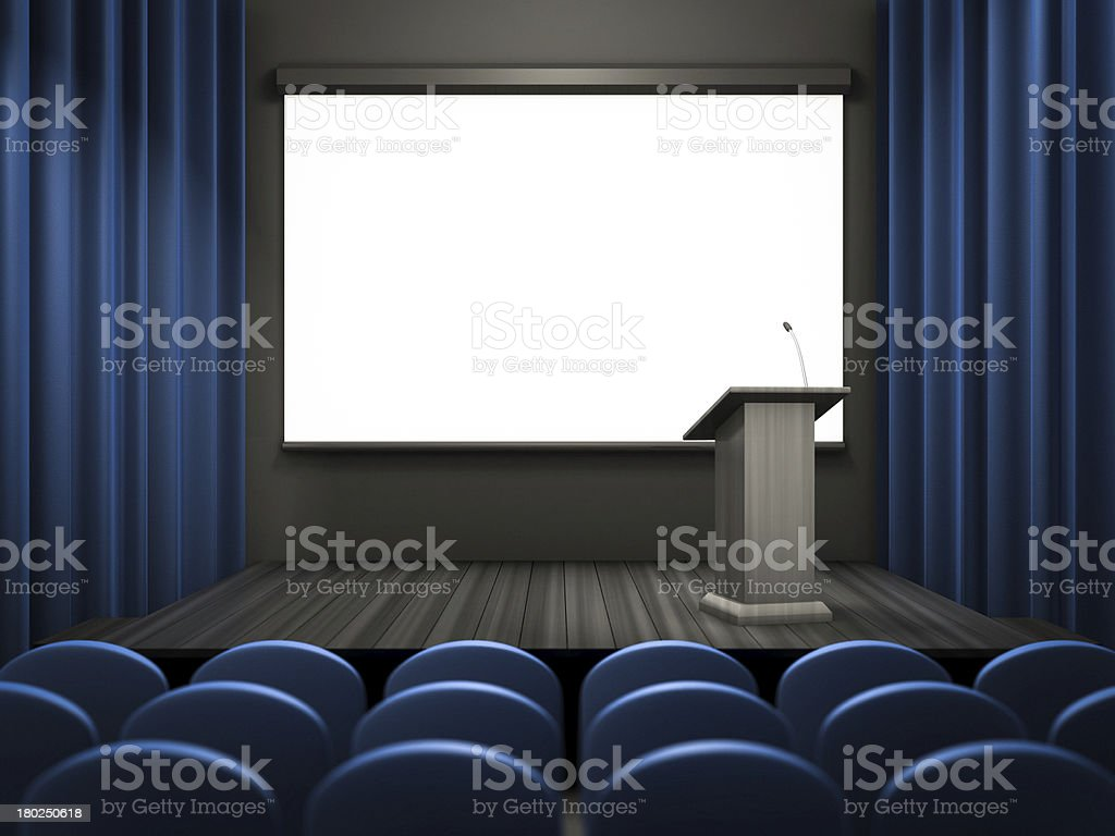 empty lecture room template royalty-free stock photo