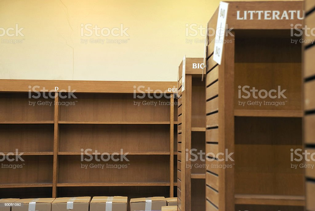 Empty library 2 royalty-free stock photo
