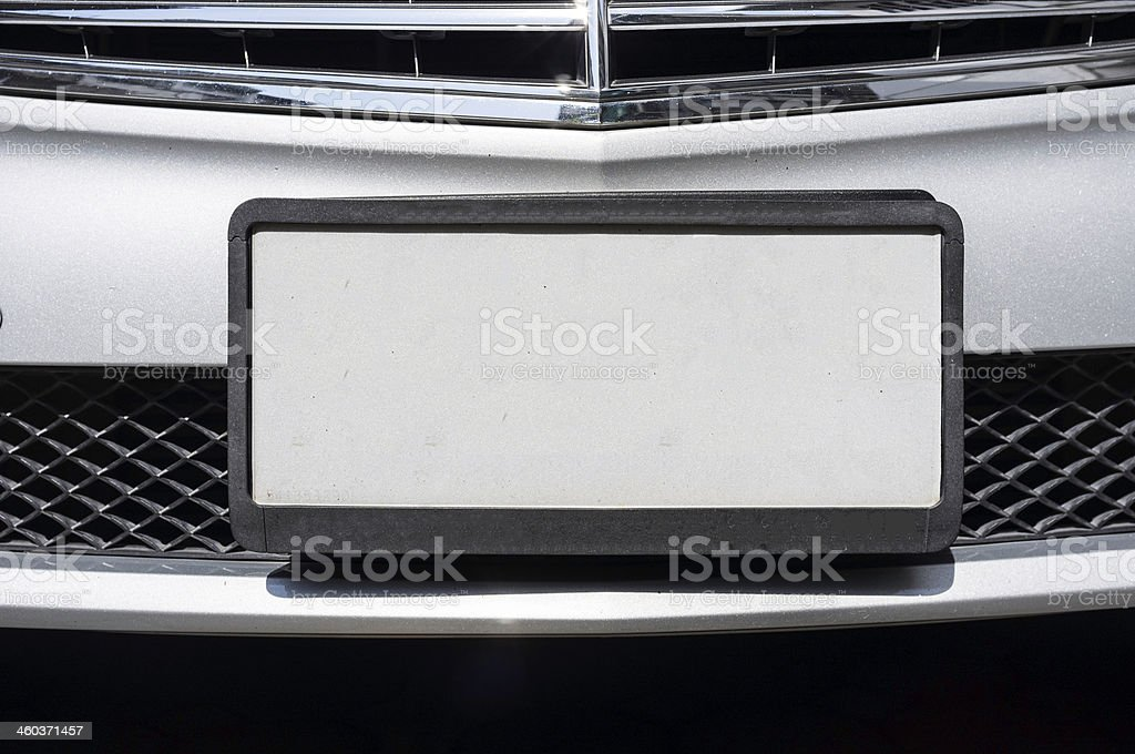 Empty License Plate stock photo