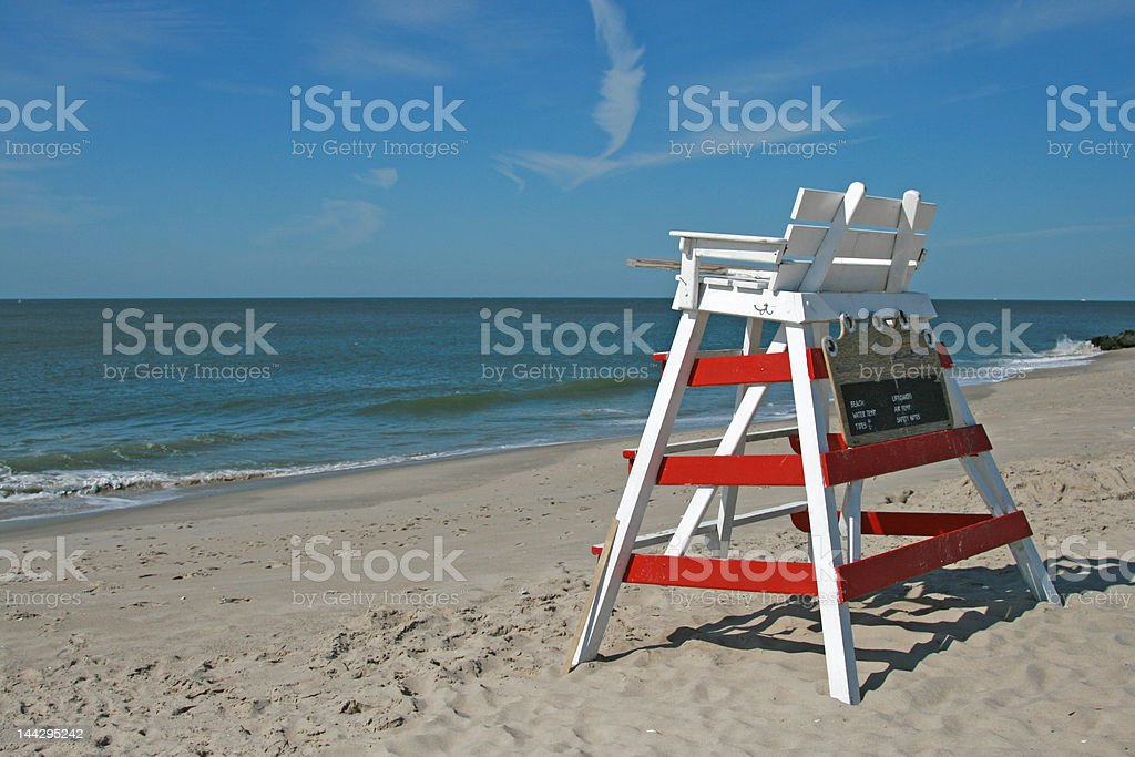 Empty Lifeguard Chair royalty-free stock photo