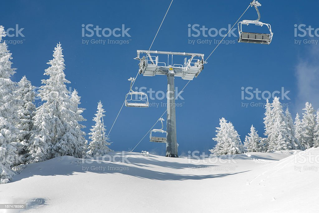 empty lift in ski resort royalty-free stock photo