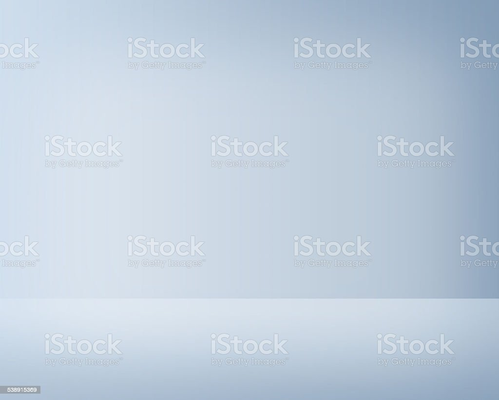Empty light blue studio interior stock photo