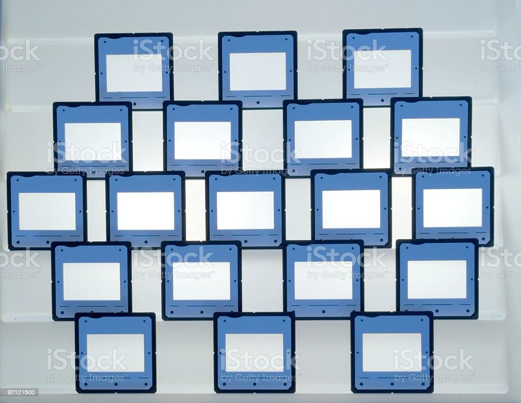 Empty light box royalty-free stock photo