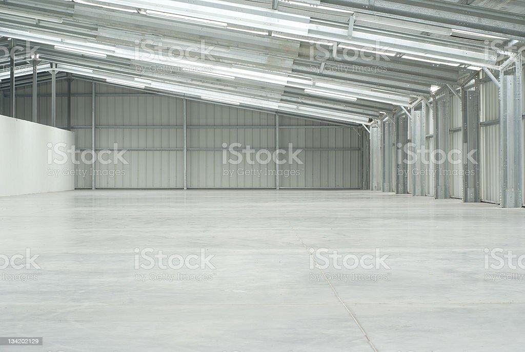 Empty light warehouse royalty-free stock photo