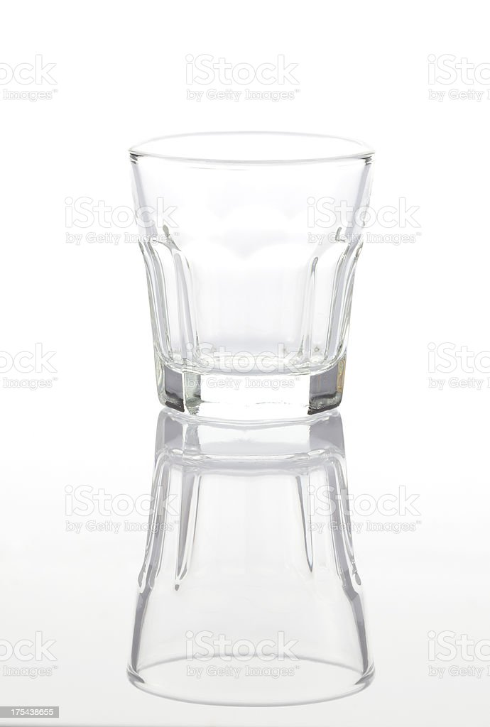 Empty liqueur glass royalty-free stock photo