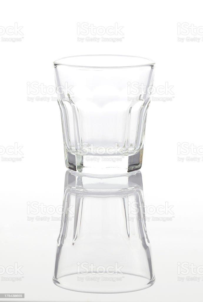 Empty liqueur glass stock photo