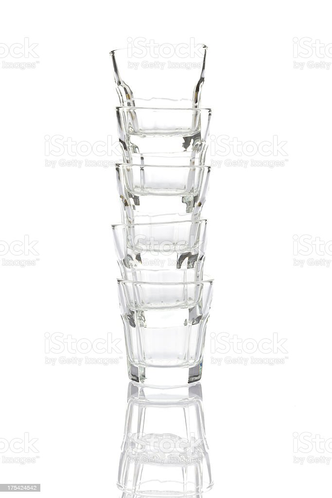 Empty liqueur glasses royalty-free stock photo