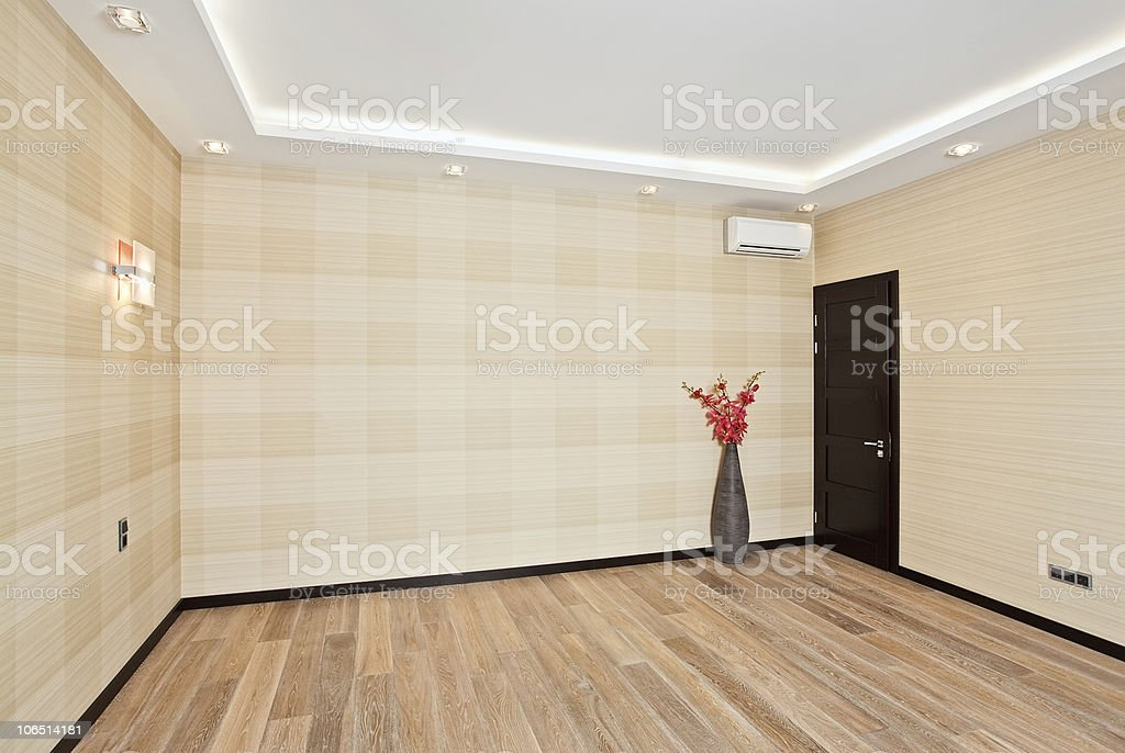 Empty living room interior in modern style royalty-free stock photo