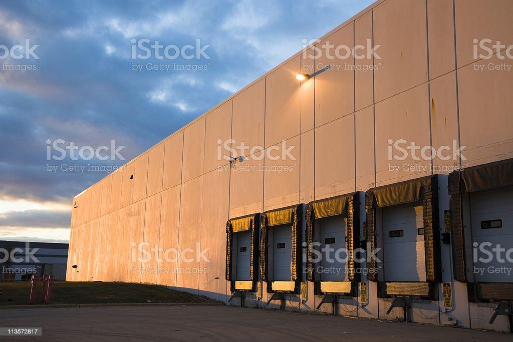 Empty Loading Dock at sunset royalty-free stock photo