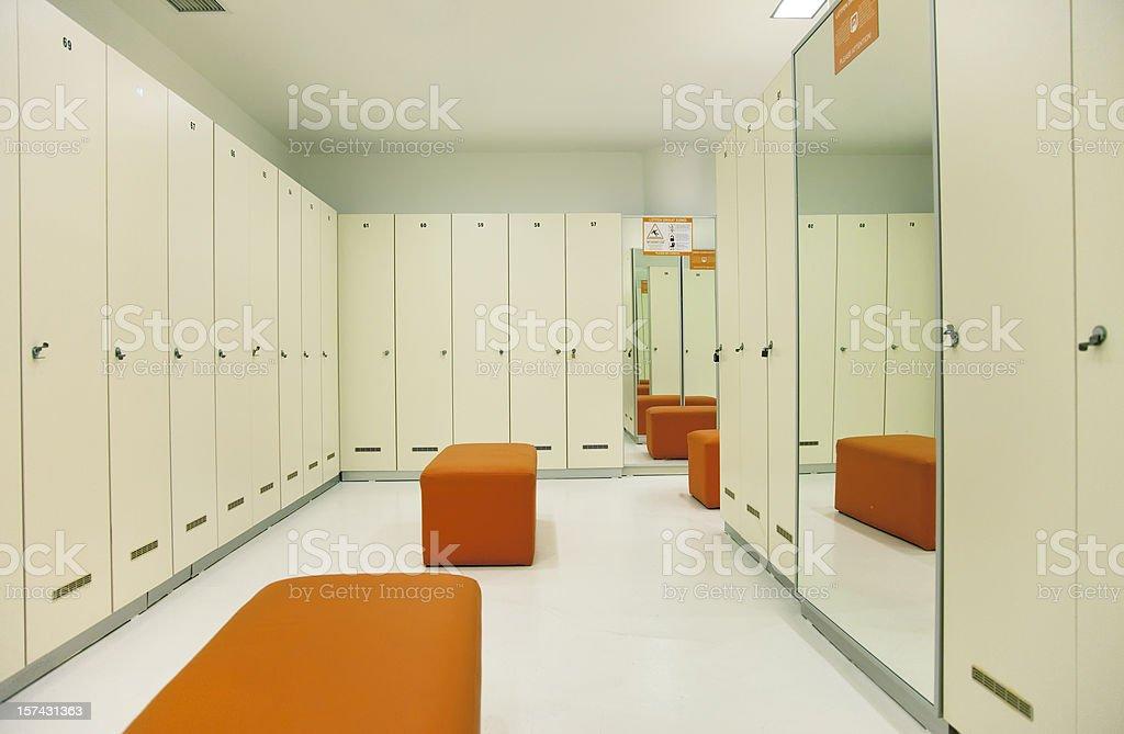 Empty locker room royalty-free stock photo