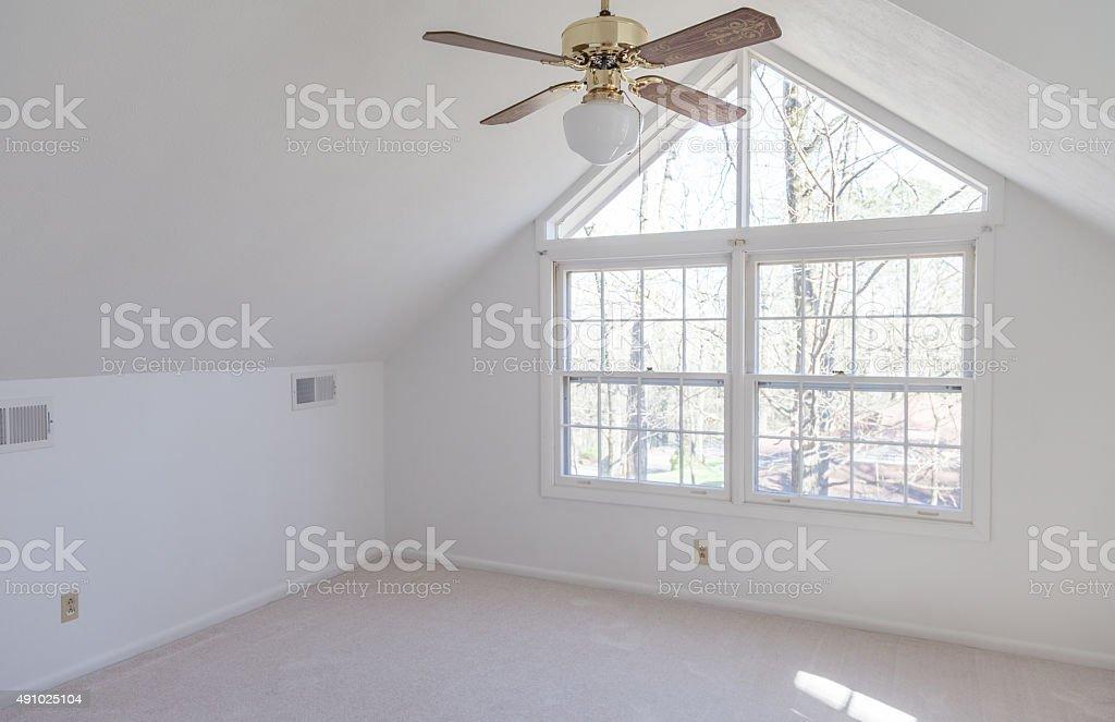Empty Loft Bedroom stock photo