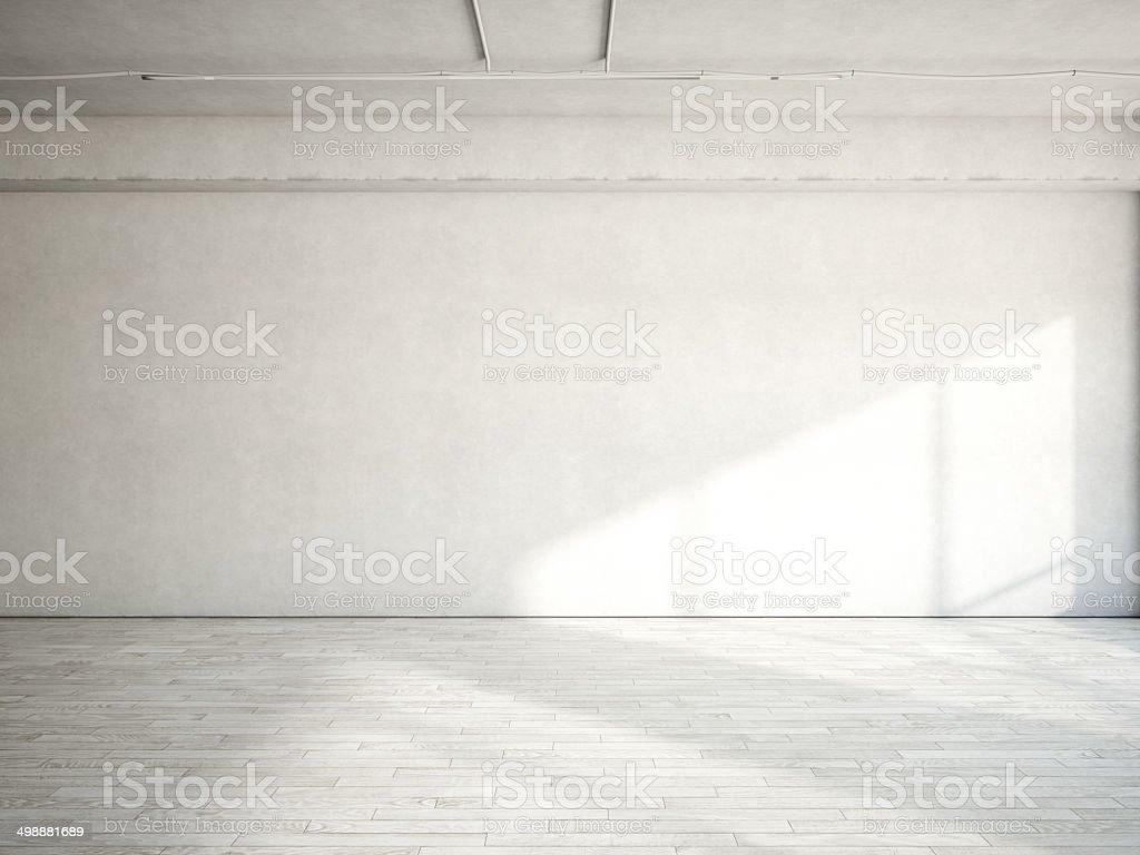 Empty loft interior stock photo