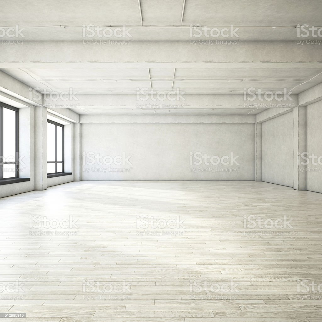 Empty loft stock photo