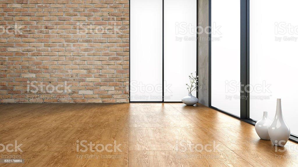 Empty Loft - Stock image stock photo