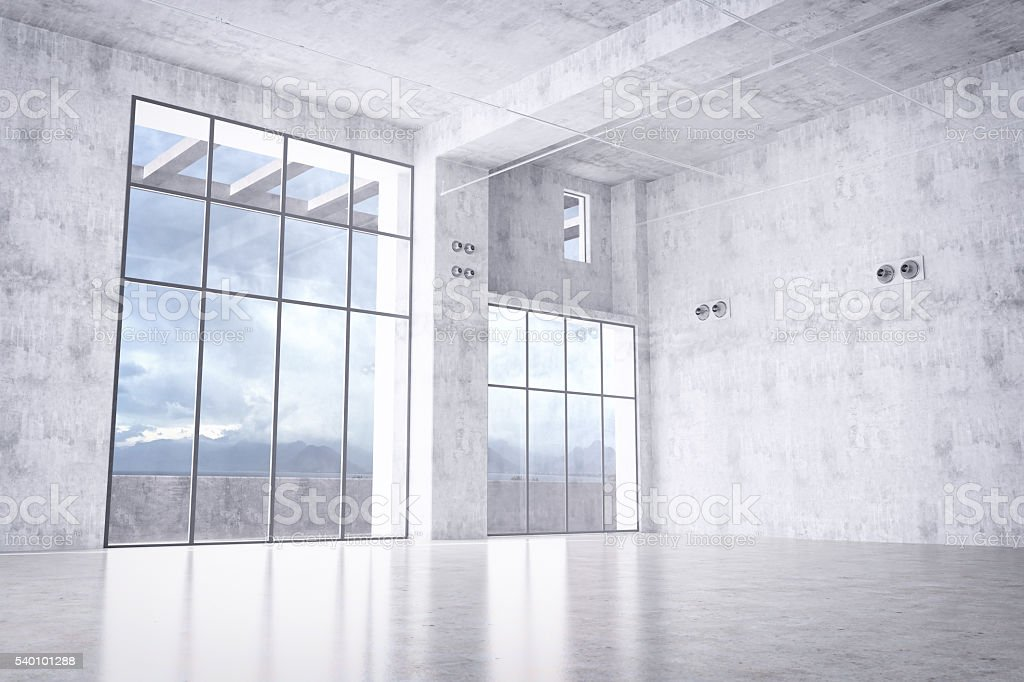 Empty Loft / Warehouse stock photo