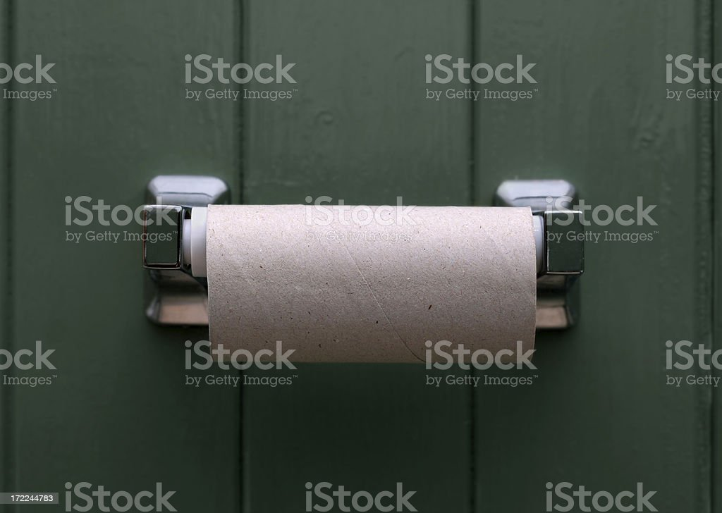 Empty loo roll royalty-free stock photo