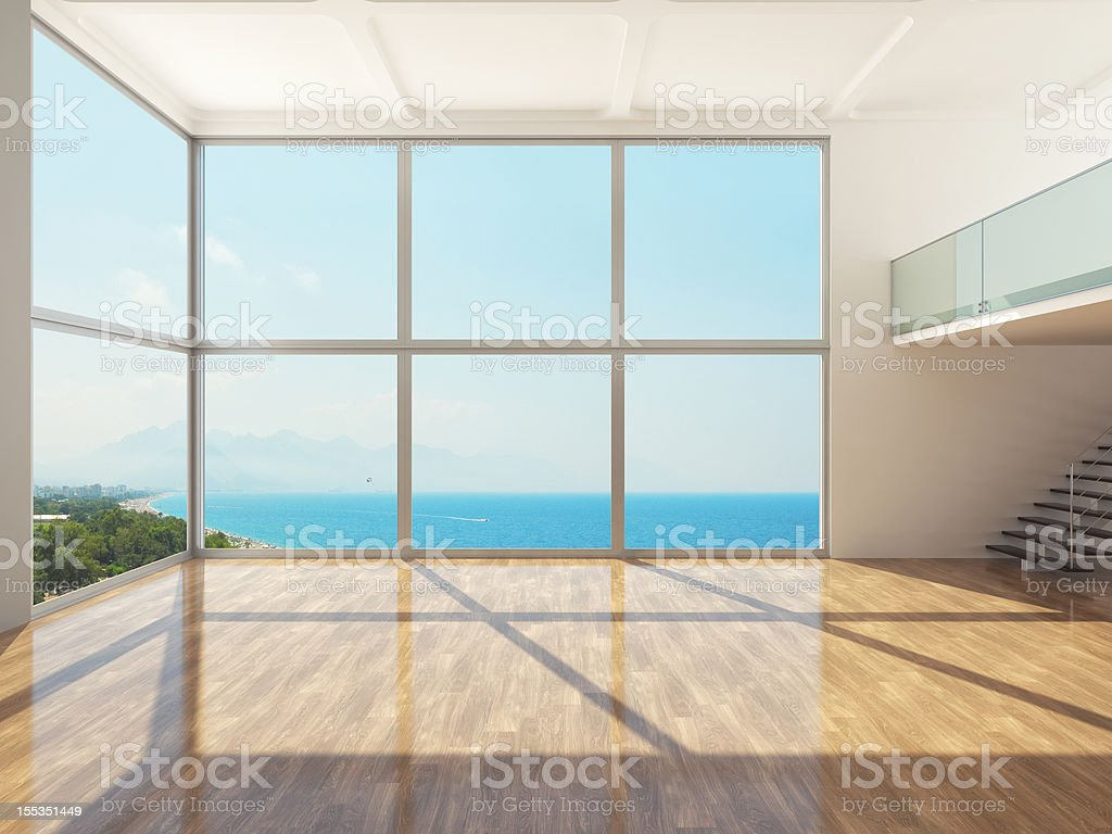 Empty Luxury Apartment Interior stock photo