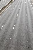Empty M1 motorway UK