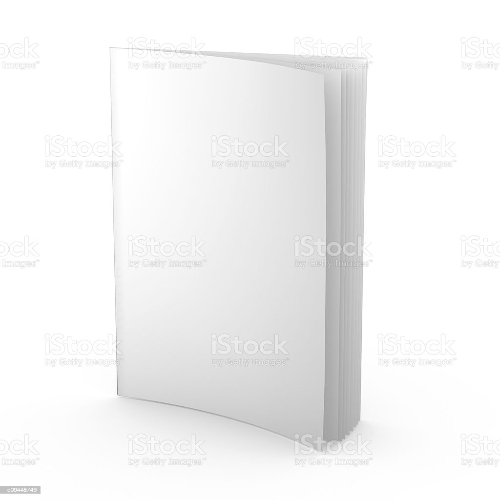 empty magazine, newspaper, leaflet or any publication isolated standing vector art illustration