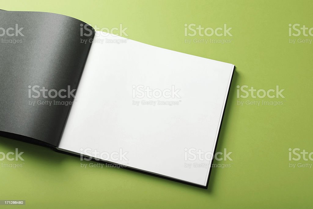 Empty magazine page royalty-free stock photo