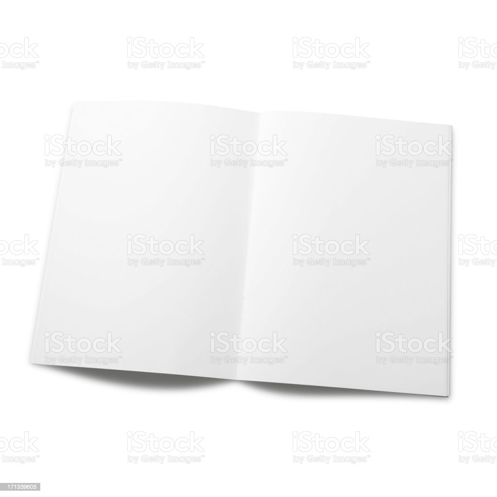 Empty magazine page stock photo
