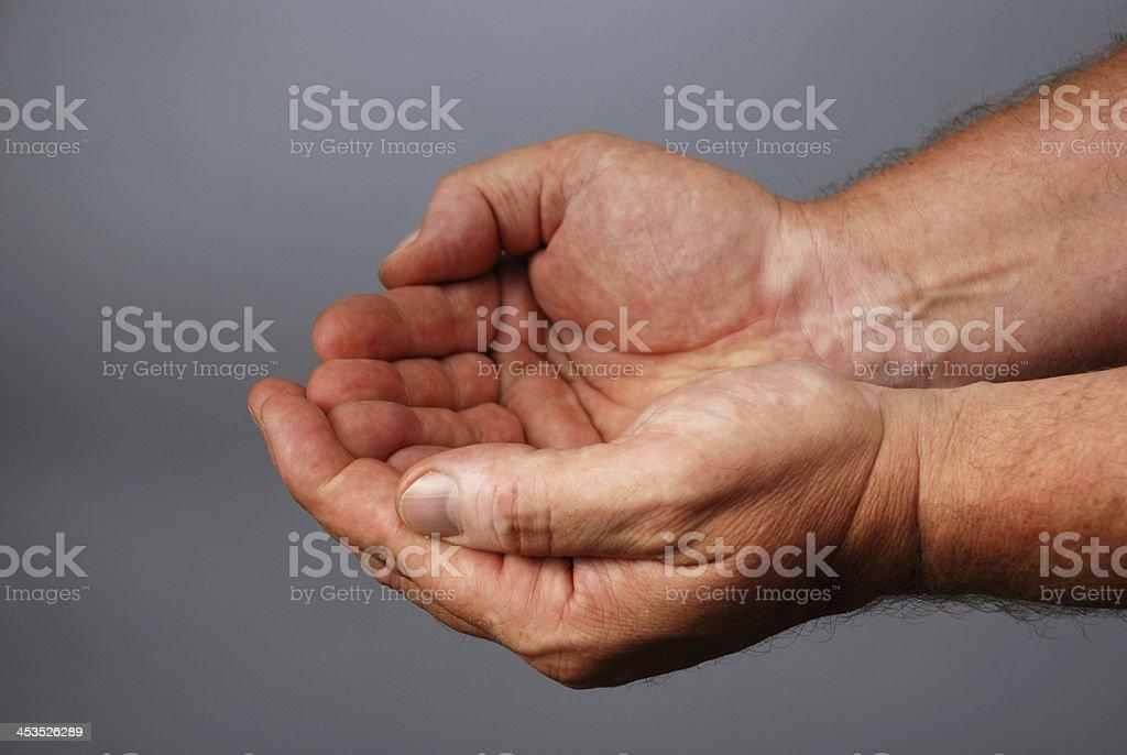 empty male hands stock photo