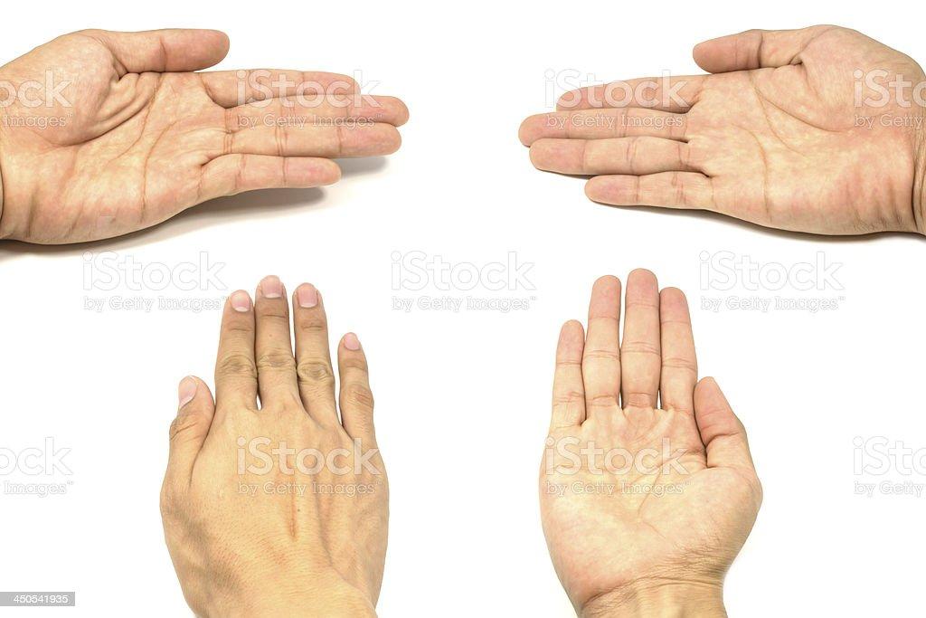 Empty man's hand isolated royalty-free stock photo
