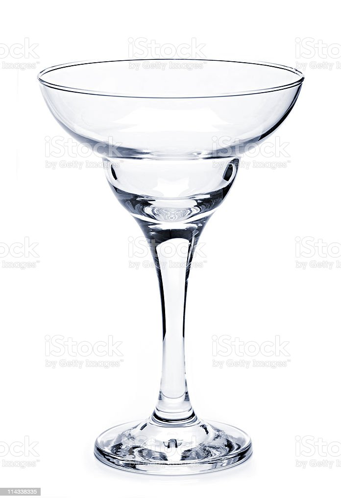 Empty margarita glass stock photo