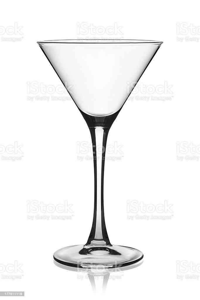 Empty martini glass. stock photo