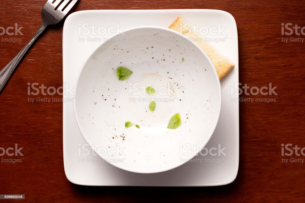 Empty Meal Bowl stock photo