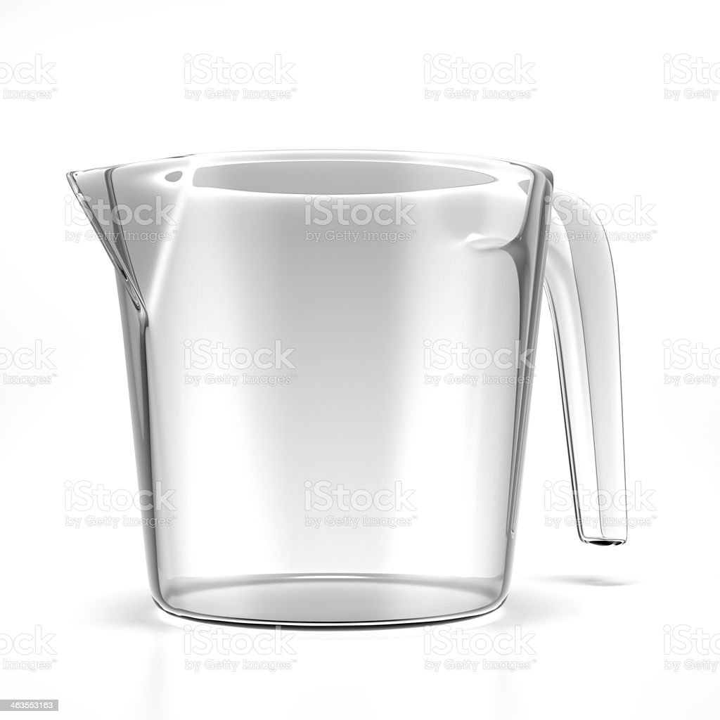 Empty measuring cup stock photo