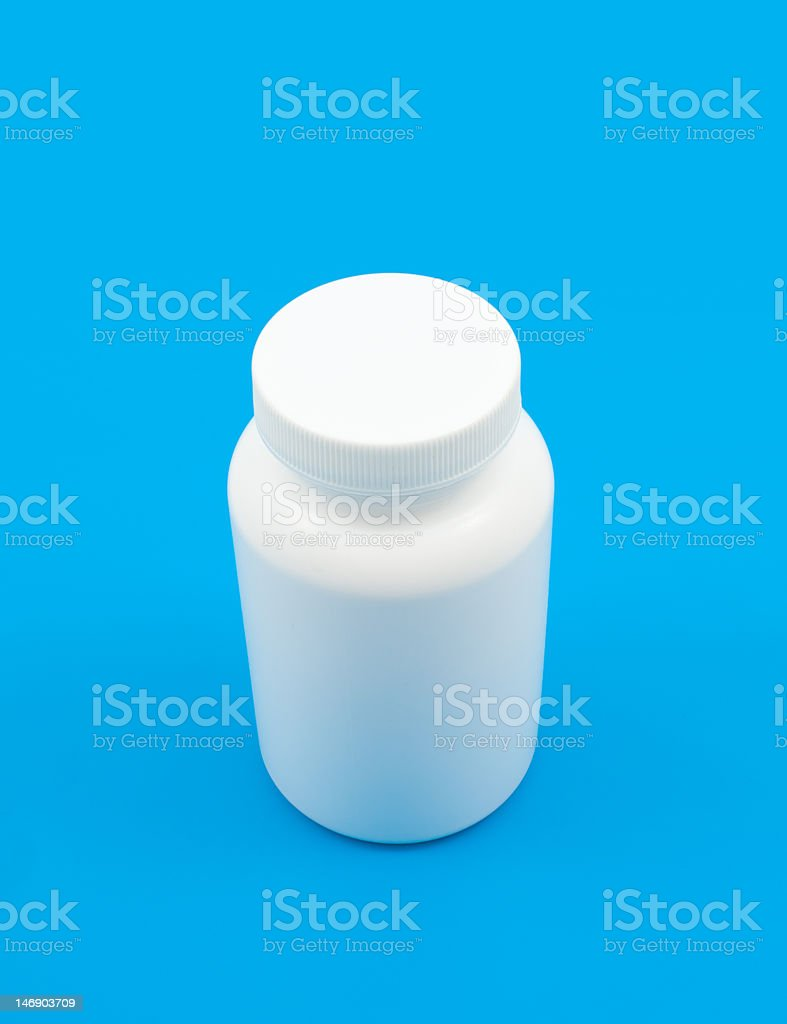 Empty medicine can royalty-free stock photo