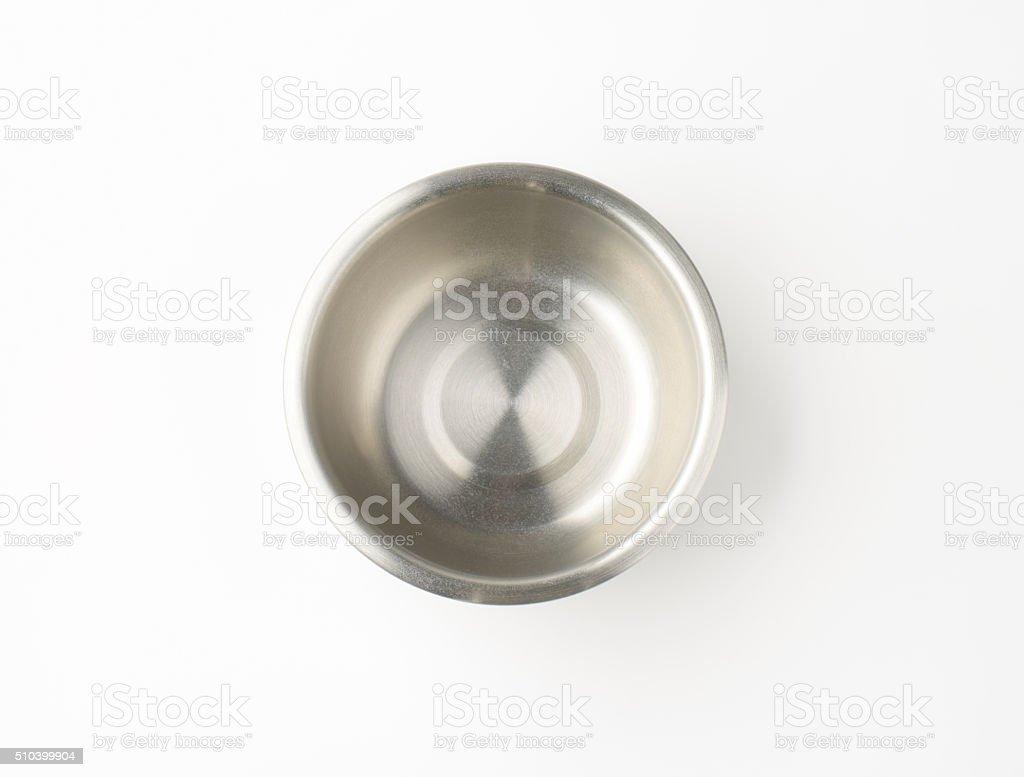 empty metal bowl stock photo