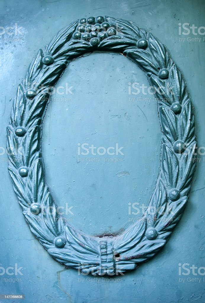 Empty Metal Frame royalty-free stock photo