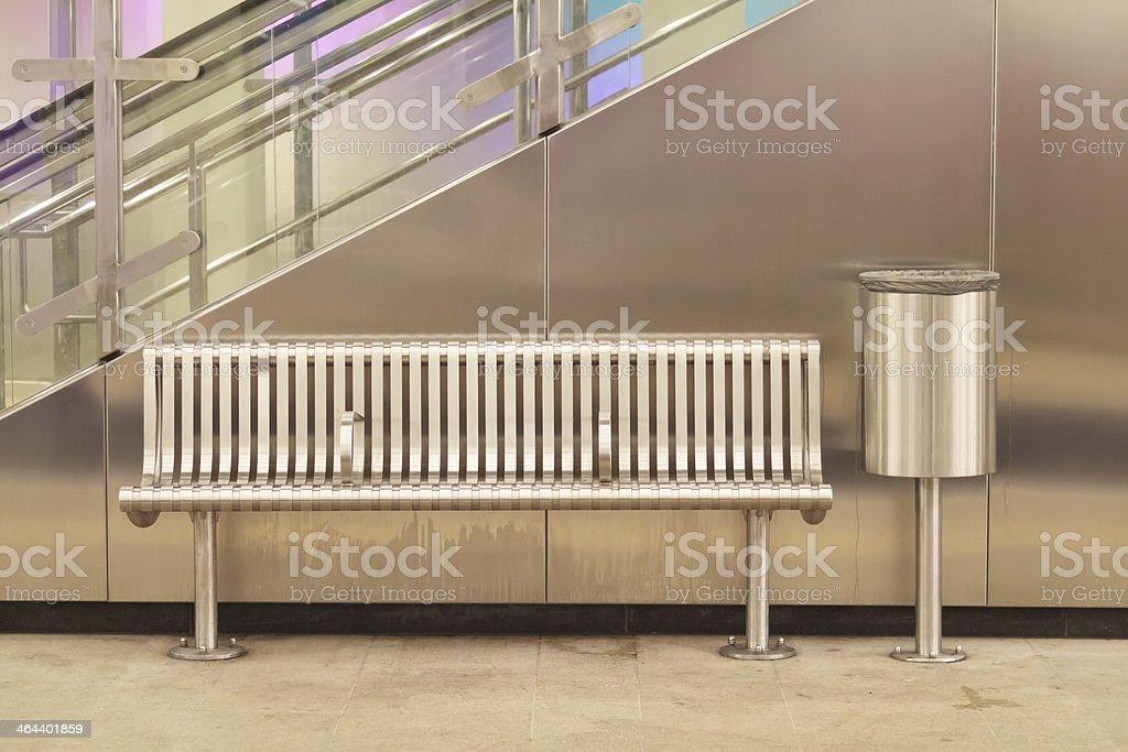 Empty metro station stock photo