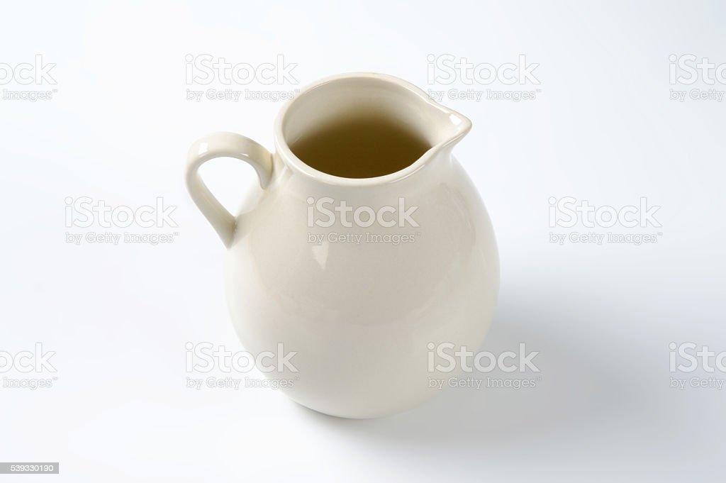 empty milk jug stock photo