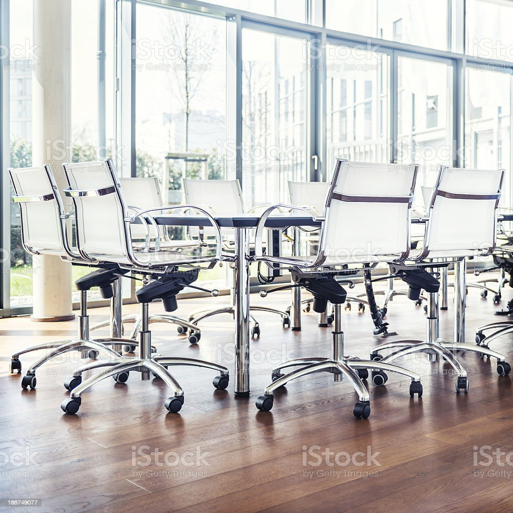 Empty Modern Board Room royalty-free stock photo
