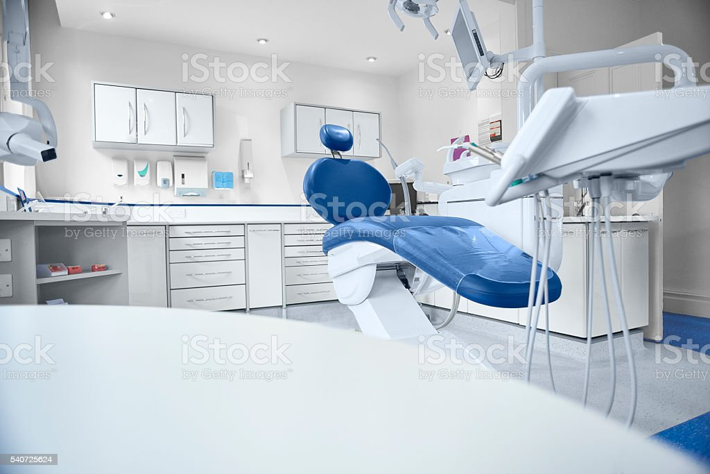 empty modern dentist room stock photo