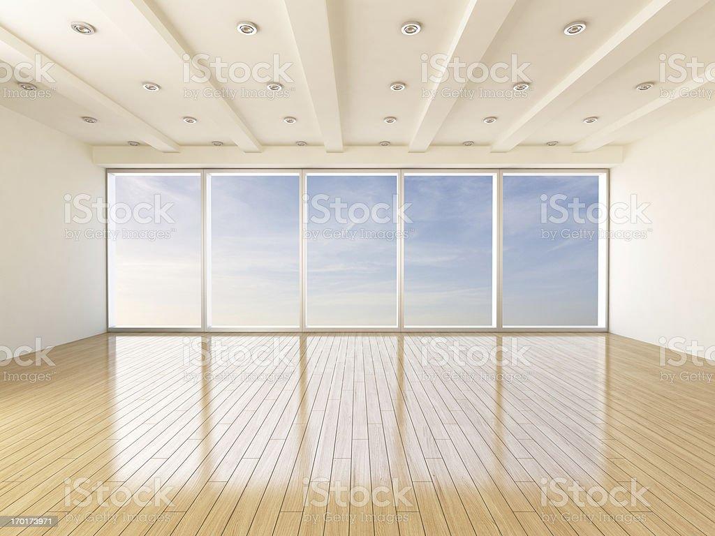 Empty Modern Interior Livingroom stock photo