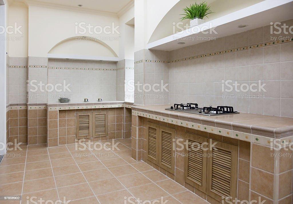 empty modern kitchen royalty-free stock photo