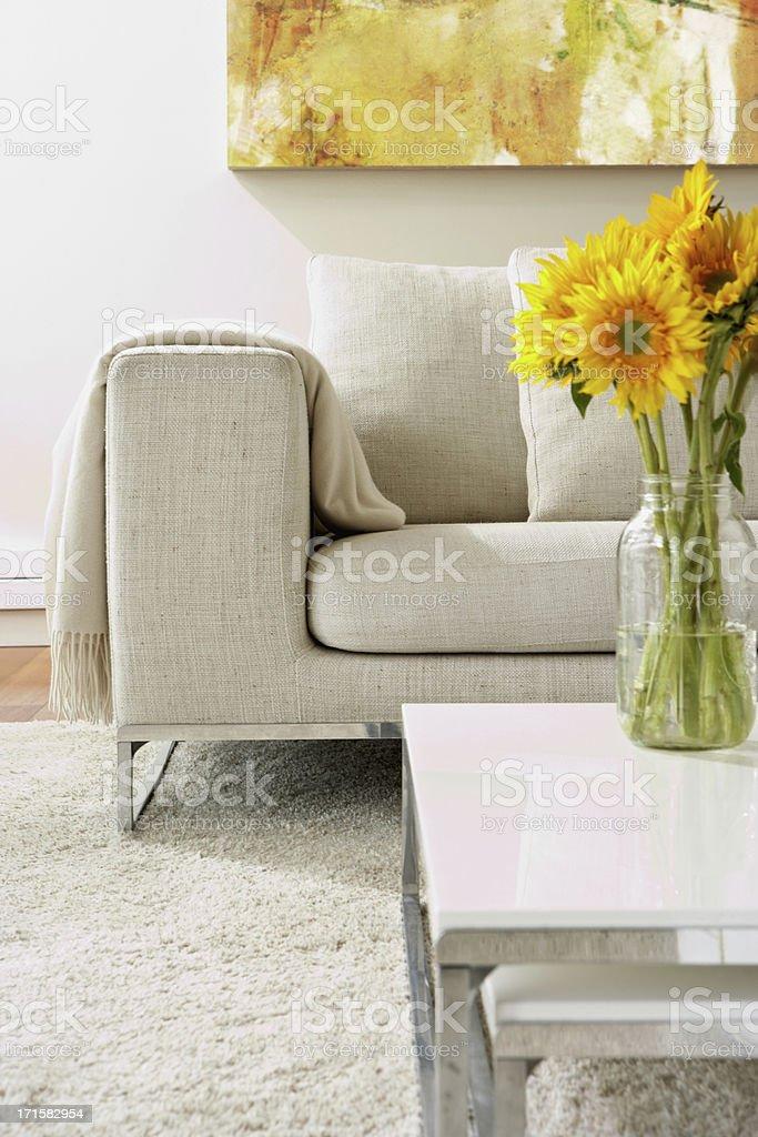 Empty modern living room royalty-free stock photo