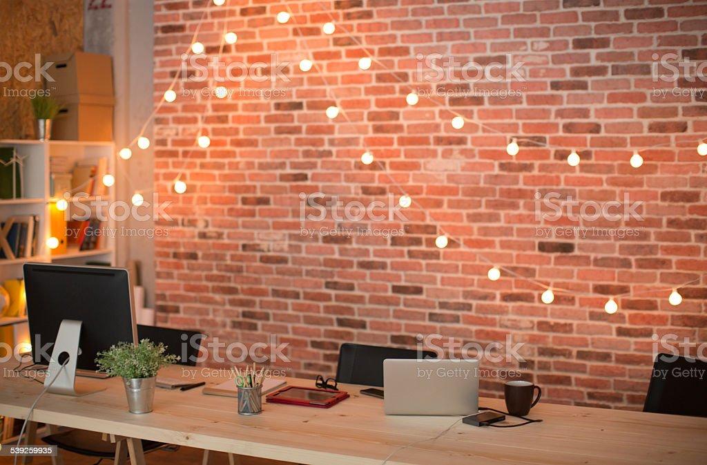 Empty modern office. stock photo