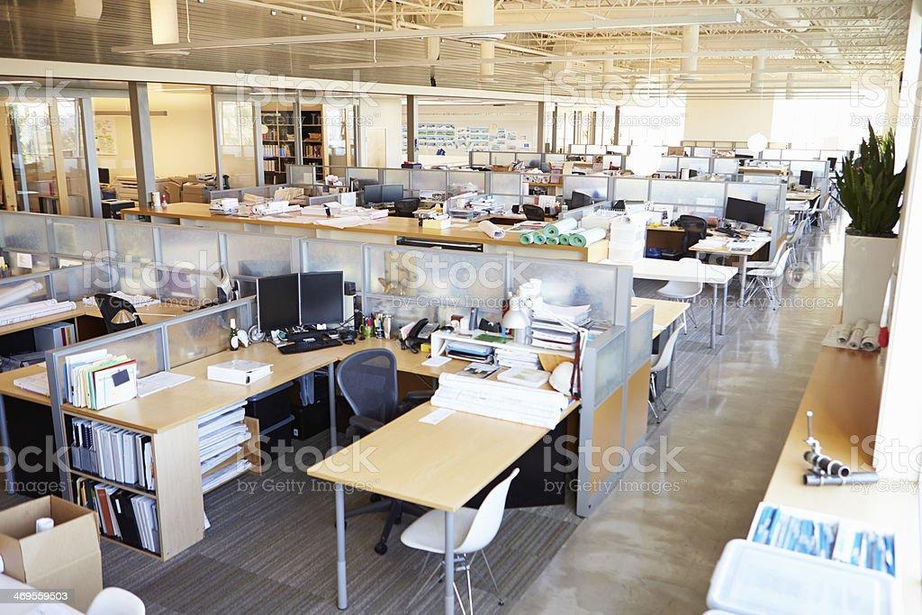 Empty Modern Open Plan Office stock photo