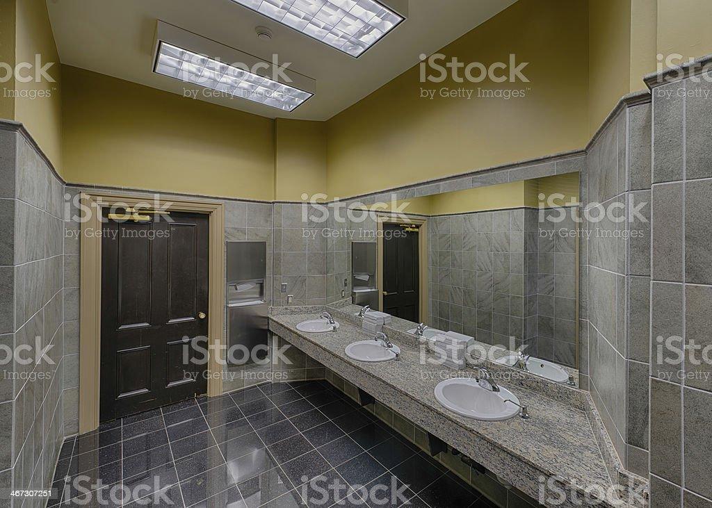 Empty modern restroom stock photo