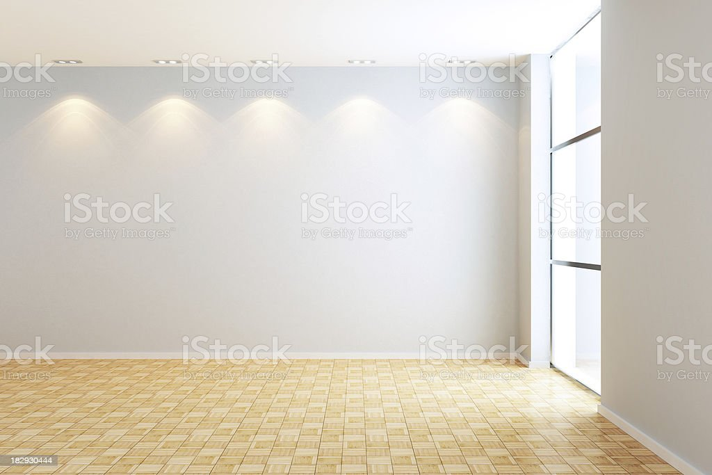 Empty Modern Room royalty-free stock photo