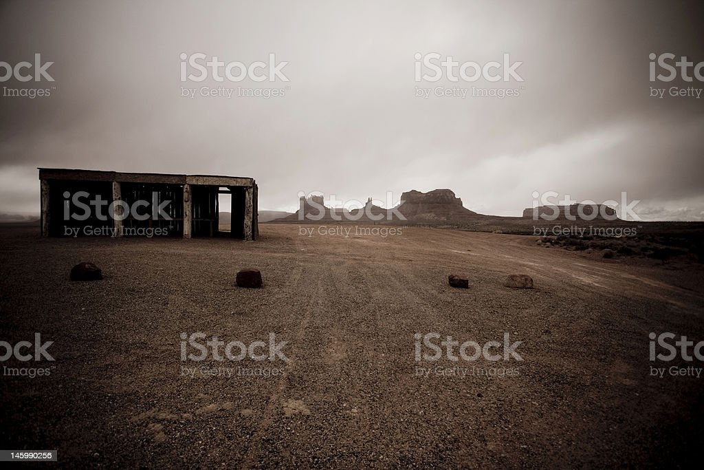 Empty Monument Valley Navajo Stand royalty-free stock photo